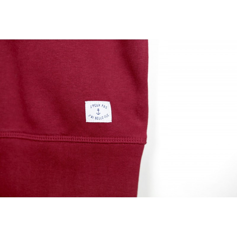 Sweat Rouge Bordeaux mixte